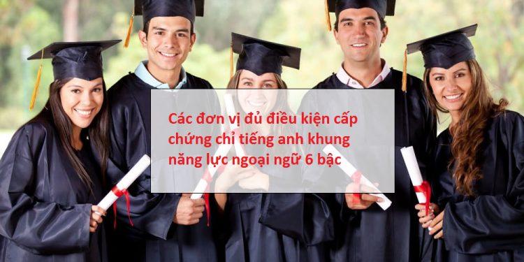 Các trường được cấp chứng chỉ tiếng Anh b2