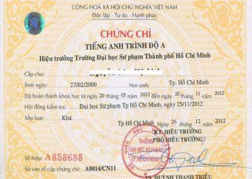 A2 đại học sư phạm thành phố Hồ Chí Minh