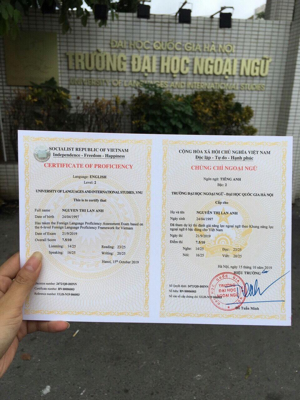 Mẫu A2 đại học Đà Nẵng